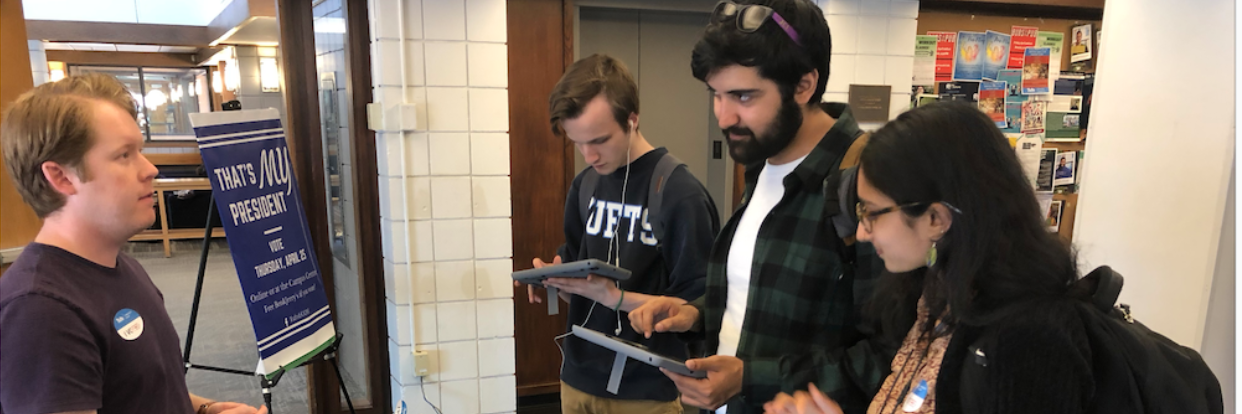Nearly 1500 Tufts Students Use Voatz Technology to Participate in the Spring 2019 TCU Presidential Election